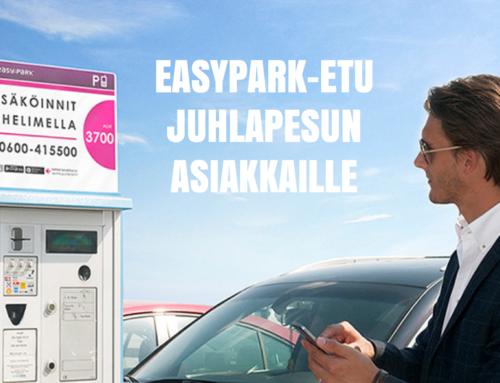 Juhlapesu ja EasyPark yhteistyöhön