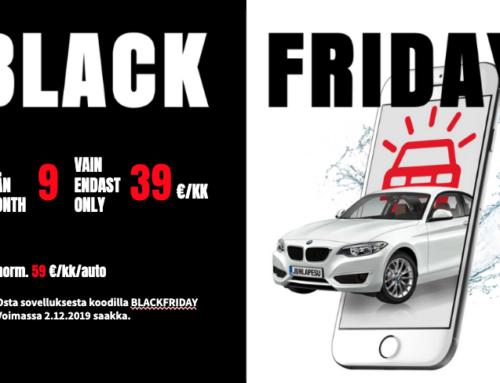 Black Friday tarjous on vihdoin täällä!