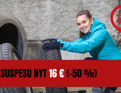Luksuspesu nyt 16 € (-50%)